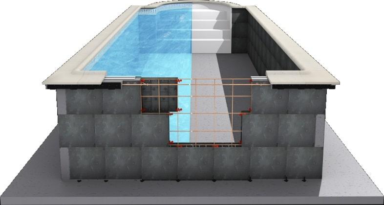 como hacer una piscina de bloques paso a paso facilmente