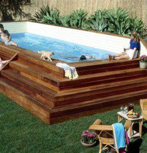 Como hacer una piscina econ mica muy facilmente for Piscinas con patas