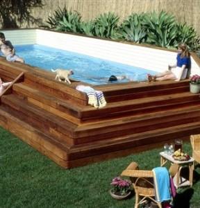 Como hacer una piscina econ mica muy facilmente for Como hacer una piscina de obra barata