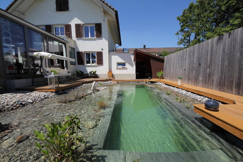 Como hacer piletas de agua para jard n muy decorativas for Como hacer una piscina natural paso a paso