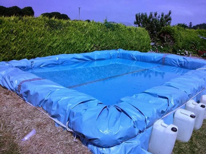 como hacer una piscina casera de plastico de forma segura