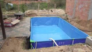 Como hacer una piscina para ni os en casa facilmente for Ladrillos para piletas