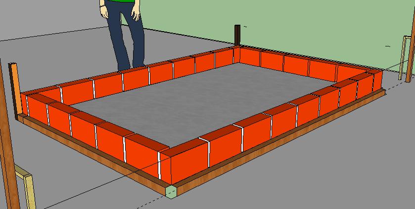 Como hacer una piscina de ladrillos huecos en tu jardin for Como construir una alberca paso a paso