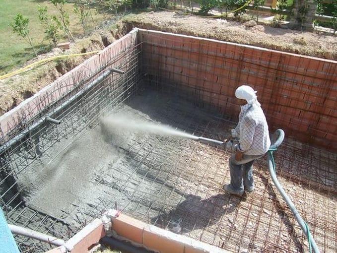 como hacer piscina de cemento proyectado