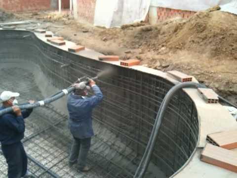 Como hacer piscina de cemento proyectado - Cemento para piscinas ...