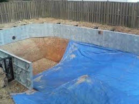 Como hacer una piscina casera sencilla muy f cil con la for Como construir una piscina paso a paso