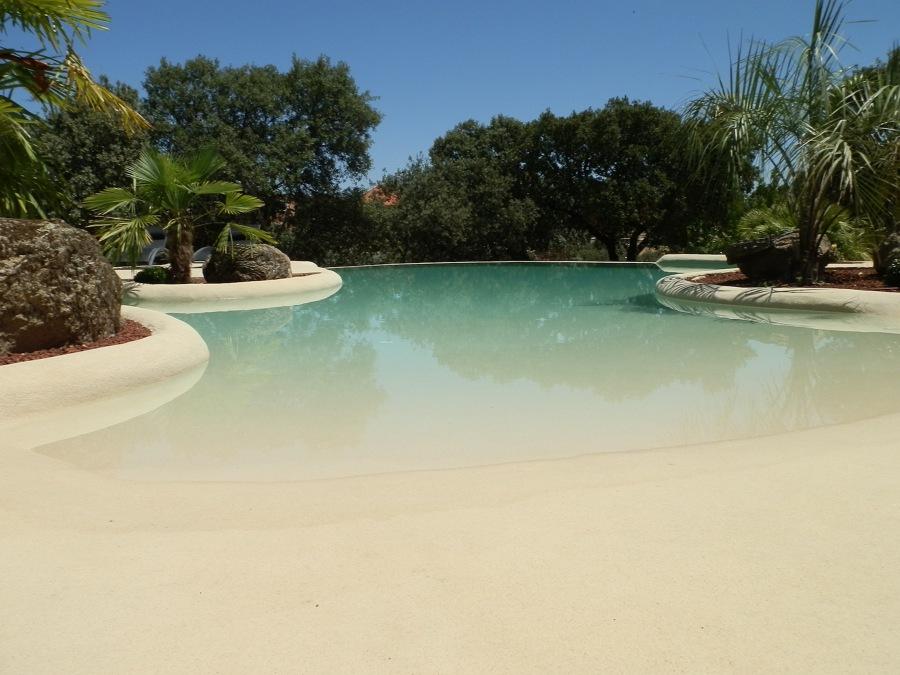 como hacer piscina de arena de playa o compactada