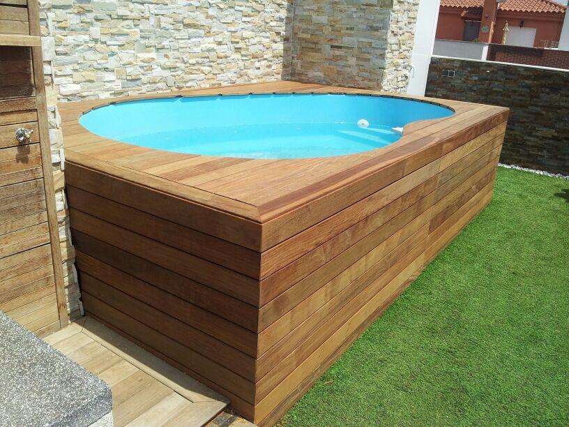 Como hacer una piscina de madera casera filtro para la for Como hacer una piscina de madera casera