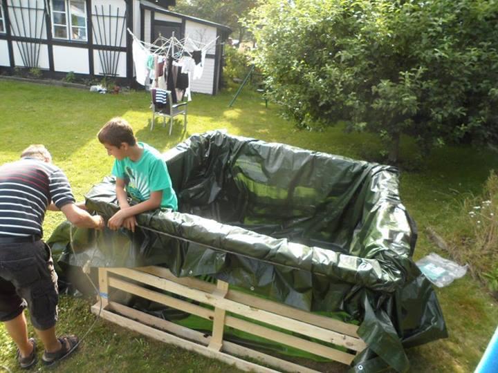 Como hacer una piscina casera economica for Como hacer una alberca rustica